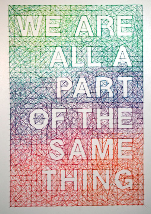 We are all a Part of the Same Thing by Dominique Falla. I think she loves triangles even more than I do, and I'm a big fan of triangles. Via DesignWorkLife.