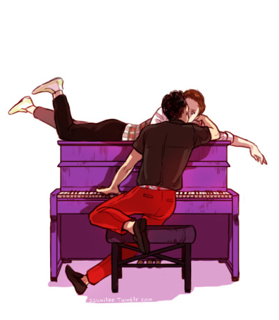 ssimilee:  S301 - The Purple Piano Klaine with Piano:)  this is adorable