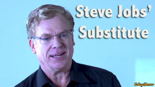 Steve Jobs' Substitute (with Christopher McDonald)  Click to watch