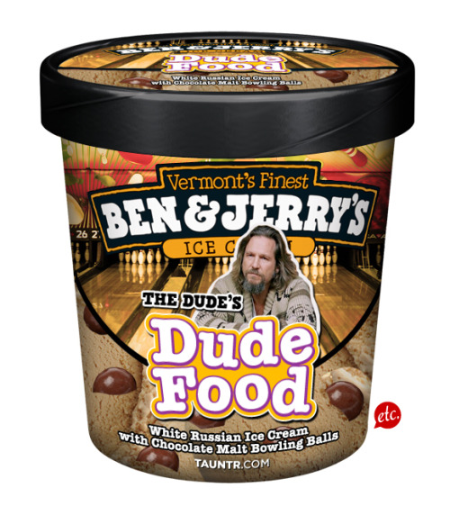 laughingsquid:  Ben & Jerry's Dude Food
