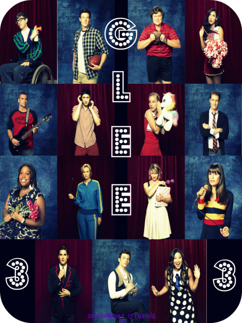 Can't get enough of Glee. :)  ©ooohlalameg.tumblr