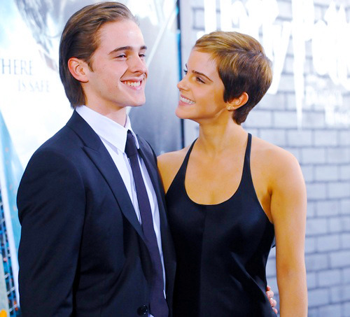 Emma Watson and her younger brother Alex. soooooo adorable!