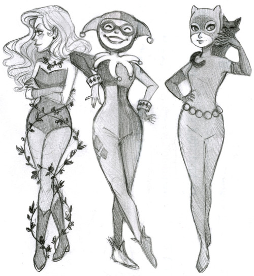 asylum-countess:  courtneygodbey:  Gotham girls And a big apology to those still waiting on drawing requests. I hope to get those done very soon. Sorry ;_;  CUTE!
