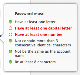 "Apple ID - Items on the password ""must have"" list are checked off as you enter your new password. /via Stephen Lewis"