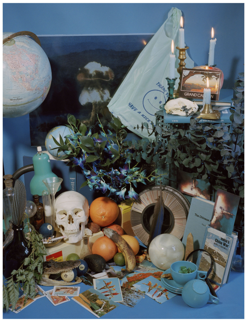 "saracwynar:  Blue Vanitas  Up at Show & Tell Gallery right now in ""This Place in Time"" Exhibition"