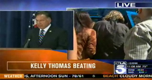 Two officers involved in the death of Kelly Thomas are going to be charged with murder and manslaughter. Watch the live news conference here.