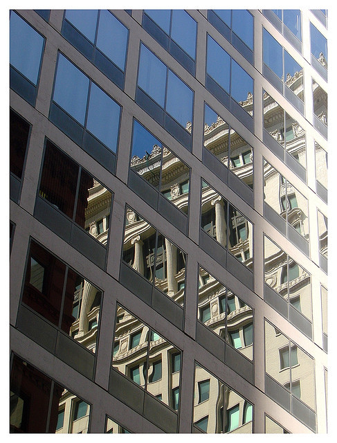 Reflections of Buildings in Buildings - #Chicago #ttot  Photo by Manuel.A.69