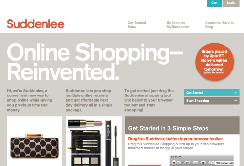 "Shop Uniqlo Online (kind of) A new website called Suddenlee just debuted. The service sells itself as a way to order from multiple stores online in a single transaction, and then have next day delivery for about $10 (up to two stores, and then $2.50 for each additional store). If you're not in the Northeast area, it may take a few extra days, but it's still faster than the regular delivery time than most stores offer.  The exciting bit about this, however, is that it seems you can order from Uniqlo through their site. Just go to Suddenlee, drag the their shopping button to your web browser's bookmark at the top of you screen, and then go to Uniqlo's website. Pick the item you want and then click the ""add to Suddenlee"" button at the toolbar. Once you've chosen the size and color, you can then order the item online. Watch this video to see how it works.  This basically seems to be a way to deploy an army of personal shoppers, and then have them pack and deliver items to you the next day. Even if you don't shop at Uniqlo, this might be a service you'll want to keep an eye on, as many companies still don't have online stores (e.g. Club Monaco doesn't have one, and RRL just got one)."