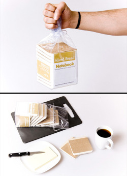 shabudoo:  Sliced bread notebooks by Burak Kaynak