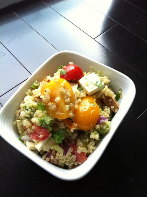 The Best Quinoa Salad. Fresh, colorful and fragrant.  Recipe coming soon.