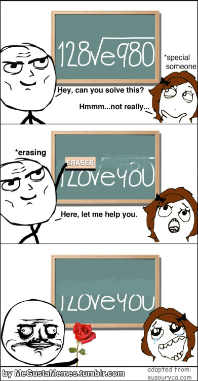 "megustamemes: ""I LOVE YOU""    Click to follow this blog, you will be so glad you did!"