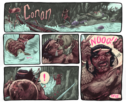 I've finally finished the Conan comic's color adaptation. I'll be displaying it at two galleries in Boston this October; one in Waltham and one near the Fenway. I'll update as to where they are as the time draws near.