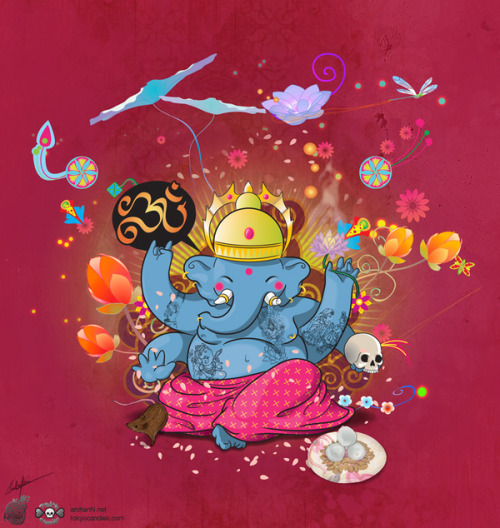 yes-dear-yes-more:  Ganesha by Rubens Cantuni