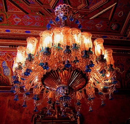 Crystal Chandelier, Istanbul, the Beylerbeyi Palace photography by Vladan Djordjevic