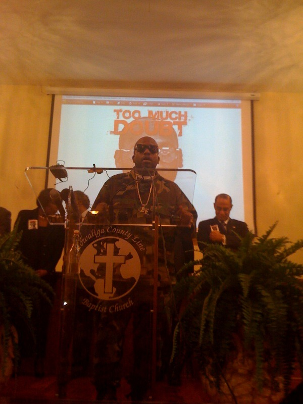 "PHOTO: Big Boi of Outkast at Troy Davis rally in Georgia: ""There Is Too Much Doubt""   Src"