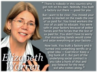 Elizabeth Warren is my new hero. I saw her on MSNBC this morning and it was love at first sight.