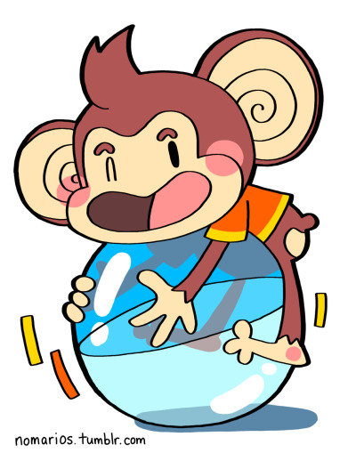 AiAi, Super Monkey Ball, Gamecube Super Monkey Ball is by far the best monkey rolling game sponsored by Dole brand bananas. BUY A PRINT OF THIS CHARACTER!