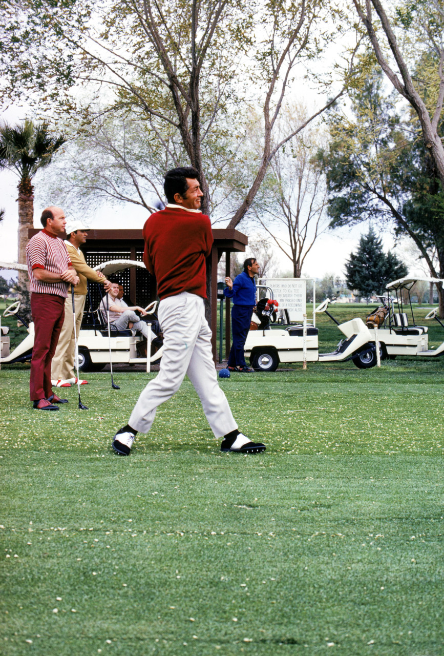 fuckyeahthekingofcool:   Dean Martin swings a club during the 1972 Jackie Gleason Inverrary Classic tournament in Florida.    Funny how 55 doesn't really look very old to me these days…