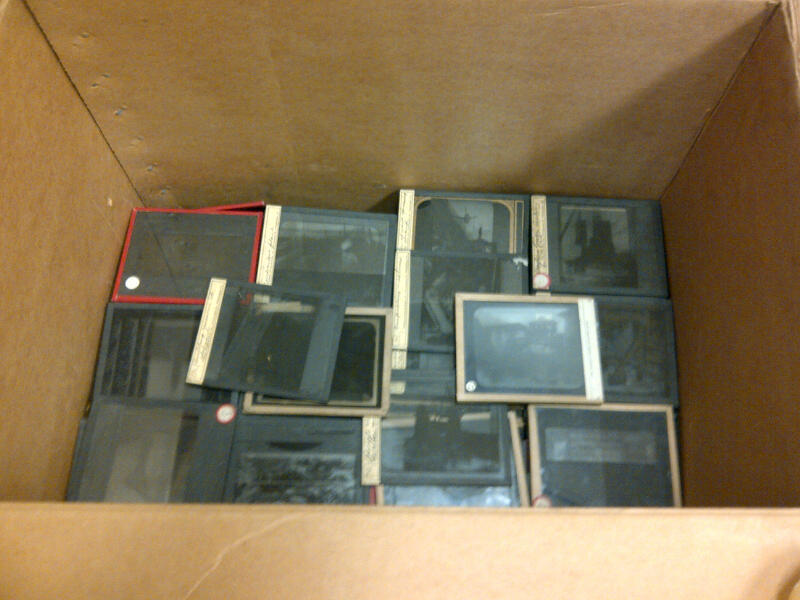 How not to store Lantern slides.