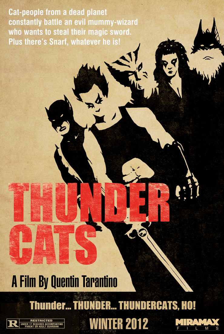 "herochan:  ""Thunder Cats- A Film By Quentin Tarantino"" Thundercats / Tarantino mash up by Andy HunterCreated for draw2d2.com (Created & submitted by andyjhunter)"