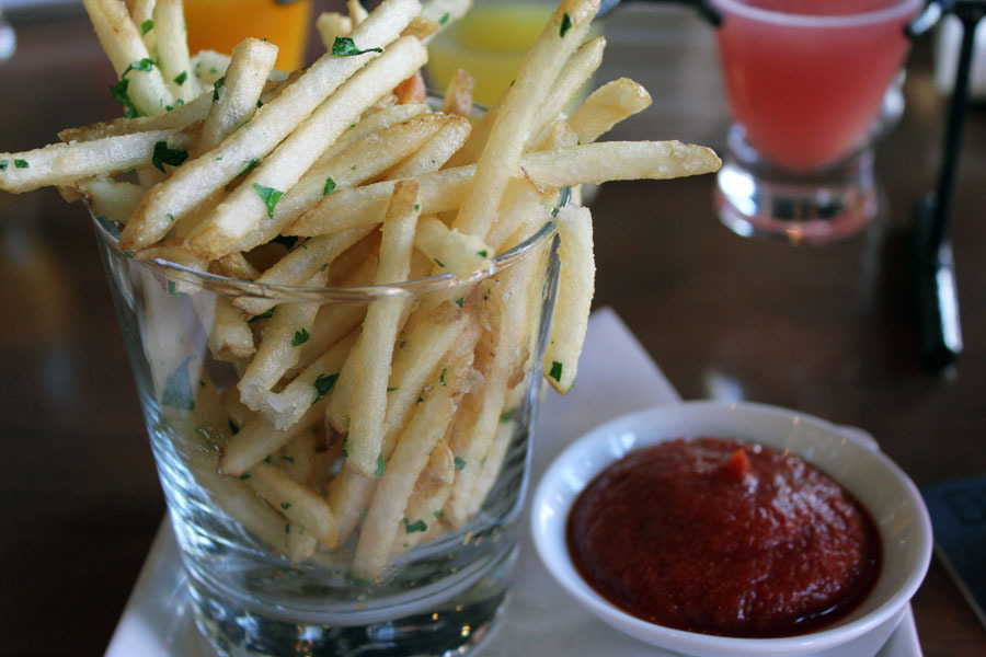 I ordered a side of Duck Fat Fries (fresh herbs, onion powder, garlic powder, pepper, duck fat) since we had a late breakfast 1.5 hrs before brunch. (Note: the ketchup I believe is made in house so it had a really neat texture)