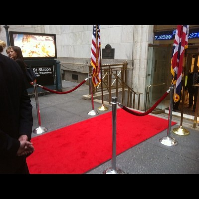 Walked a red carpet.  (Taken with instagram)