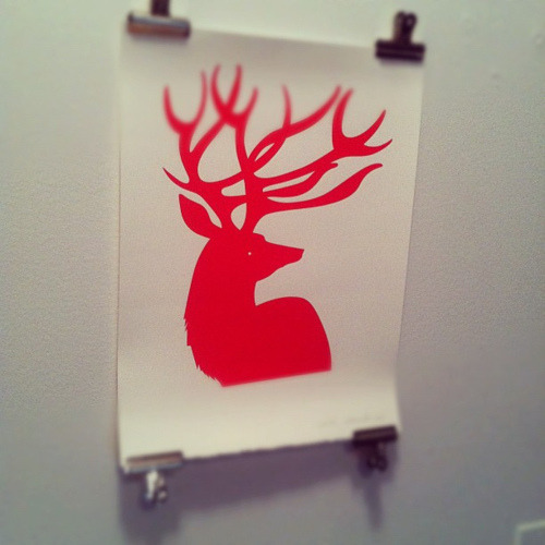 Testing Instagram 2.0, with a print by Sarah Edmonds of @banquetworkshop