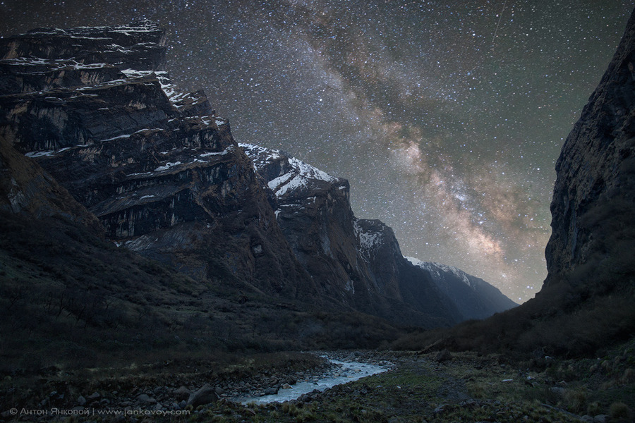 """Milky Way above the Himalayas"" by Anton Jankovoy Might I reiterate … this is a photograph. Holy bejeezus."