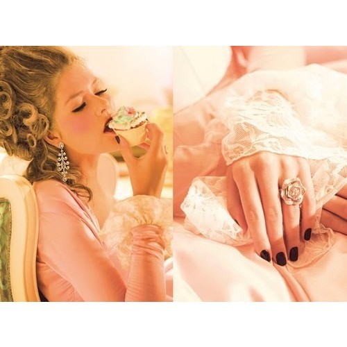 iwantyouforyourbody:  Out of the Way: Marie Antoinette on ads for Zoya, Bombay   (clipped to polyvore.com)