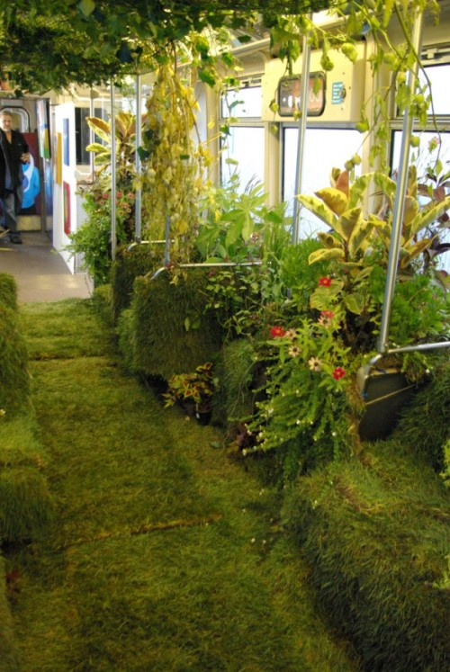 (via CTA Rail Car Converted into Mobile Garden | Colossal)