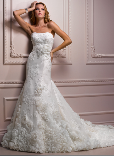 I love Maggie Sottero wedding gowns. This one is lovely.