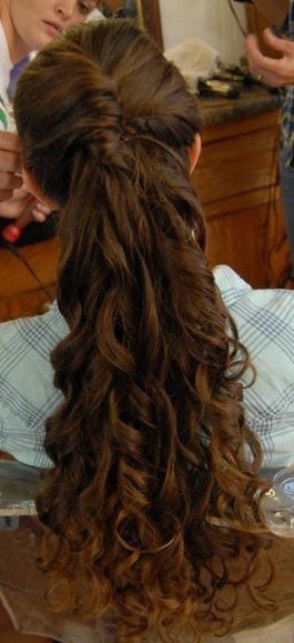 "apopentecostal:  My hair at my best friend's wedding!!! :D Although the world thinks it's ""weird"" that I don't cut or trim my hair, I got tons on compliments on it :)"