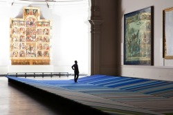 Art should be contemplated. An installation at the V&A in London gives people a soft platform to lounge on in the Raphael Court and consider the masterpieces around them. http://bit.ly/mQ5qkX
