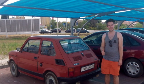 chilling next to my new wheels in Croatia.
