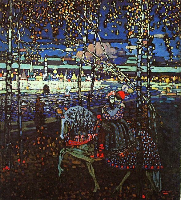 devonrosed:  kandinsky - riding couple - 1906
