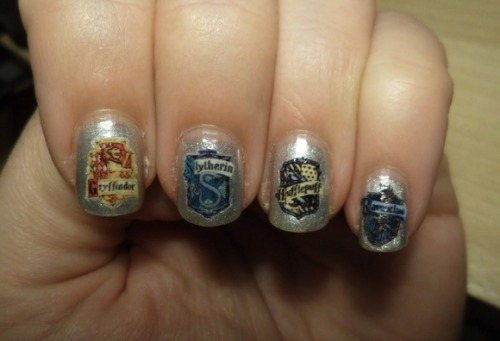 dope ass harry potter nails LOL had to reblog