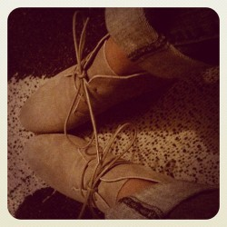 262. sued booties.  (Taken with instagram)