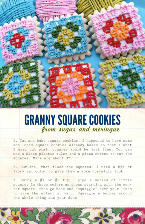 Granny square cookies… so cute!