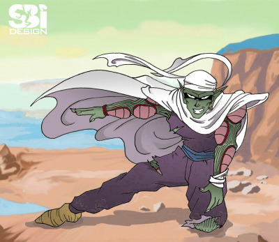 My take on Piccolo fighting off Freiza.