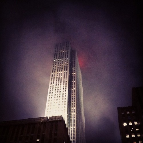 Looks like something eerie is going on across the street at 30 Rock. #photos (Taken with Instagram at SiriusXM Satellite Radio)
