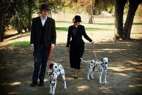 The MOST accurate 101 Dalmatians cosplay. SO CUTE  (Except Perdita should have white ears but we'll let this slide…hurhur)