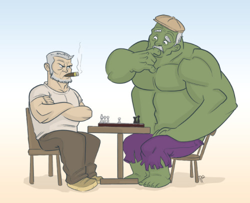 thehappysorceress:  Grumpy Old Men by keiler