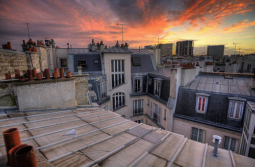 allthingseurope:  Rooftops of Paris (by Feo David)