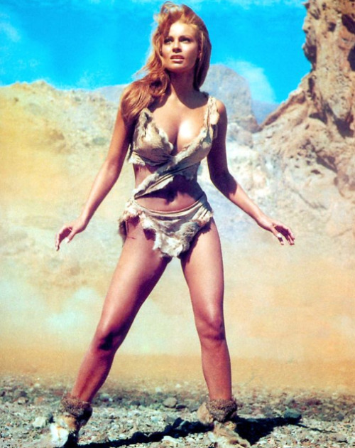 "vintagegal:  Raquel Welch in ""One Million Years B.C."" 1966"