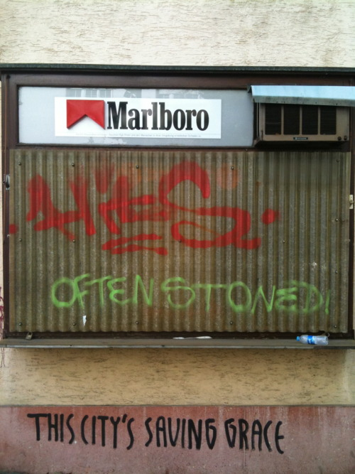 Often stoned,  Frankfurt am Main, Nordend, 2011