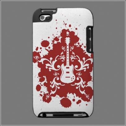 Cool Blood Splatter Guitar iPod Touch Hard Case