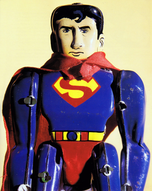 herochan:  Superman tin toy circa 1959 - scanned from Superman: The Complete History, Chronicle Books, 1998 via: heyoscarwilde