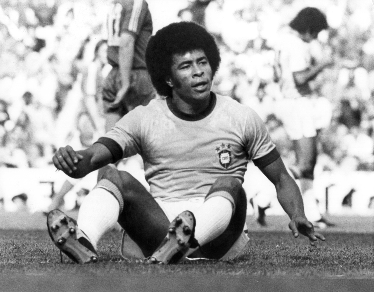 interleaning:  Jairzinho, World Cup 1974.  I wonder what's got him miffed…