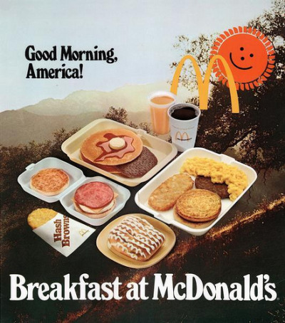 wavestrider:  fuckyeahvintage-retro:  McDonald's ad, 1978  Still ends at fuckin 10:30 OBAMA DO SOMETHING INSTEAD OF BLOGGIN U COMMIE   I can't think of a better way to start the day than by having my bowels ravaged by Ronald's Revenge!