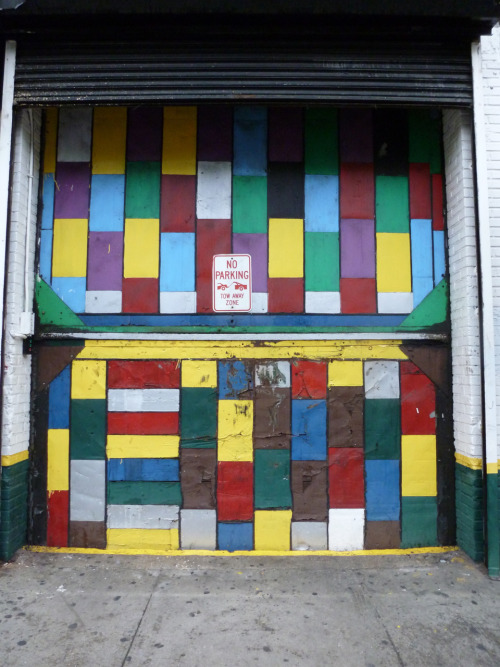 A painted garage entry on New York's Lower East Side. Photographed this morning.